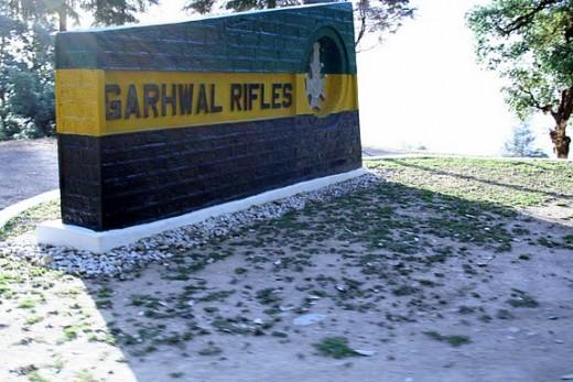Garhwal Rifles Entry Area in Lansdowne