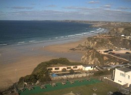 Newquay Webcams and Surf Webcams in Newquay.  Webcam on Victoria Hotel, Newquay.
