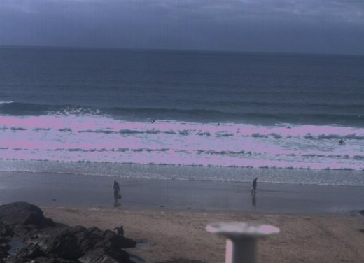 Newquay Webcams and Surf Webcams in Newquay.  Windswept Cafe.  Now closed.
