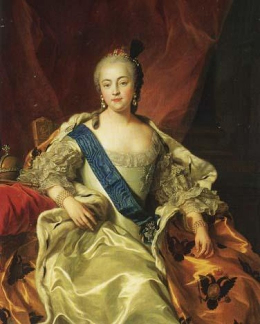Public domain photo of portrait by Charles Andr van Loo (1705 - 1765) - photo courtesy of WikiPedia.org  ( http://en.wikipedia.org/wiki/File:Elizabeth_empress.jpg )