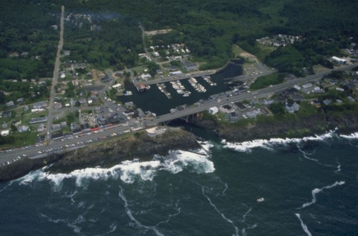 Aerial View of Depoe Bay