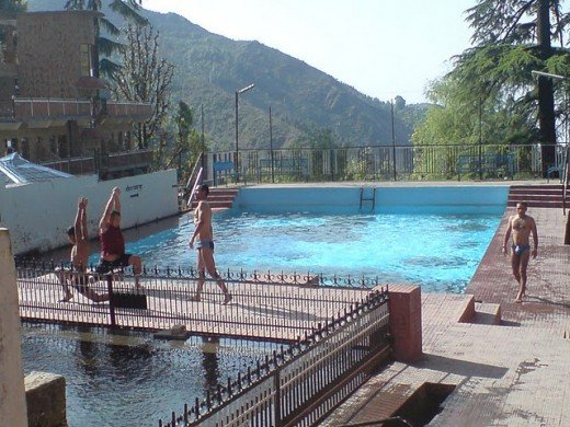 Swimming pool in a hotel at Mcleodganj.