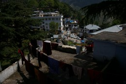 A shot from a hotel's terrace in Mcleodganj
