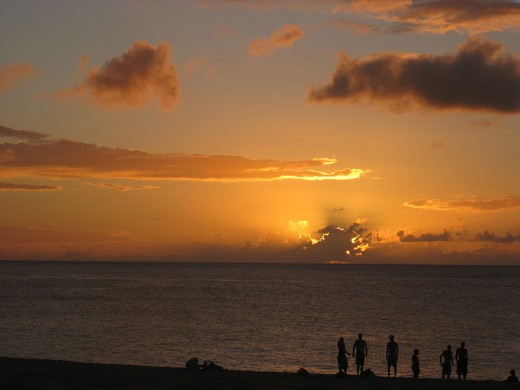 Sunset at Waimea Bay