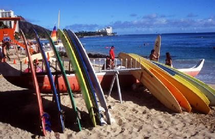 "Surf board ""parking"""
