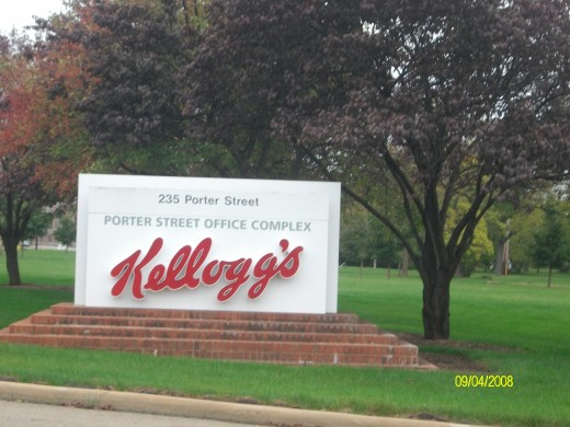 Kelloggs welcome sign