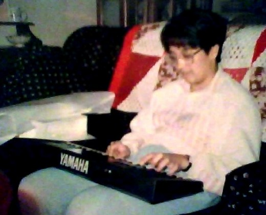 Here I am with my First Yamaha Keyboard.