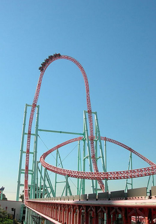 Xcelerator Ride at Knotts Berry Farm