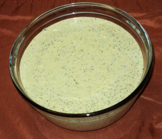 "A ready ""Green Sauce of Cilantro and Dill"""