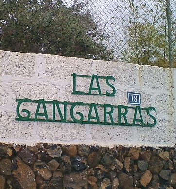 Las Gangarras sign