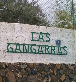 Las Gangarras sign