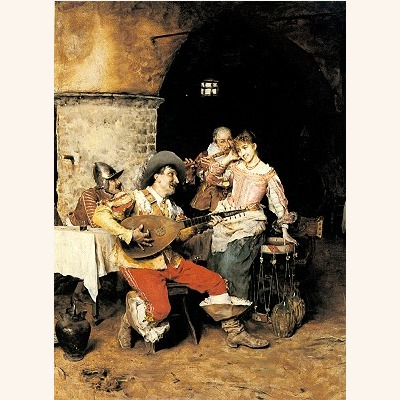 The Serenade, by Frederico Andreotti. From oil-paintings.com