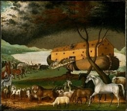 Noah's Ark before the Flood, by American artist, Edward Hicks (1780-1849).