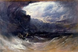 "The awesome terror of Noah's Flood. A painting by John Martin entitled, ""The Deluge"" (1834)."