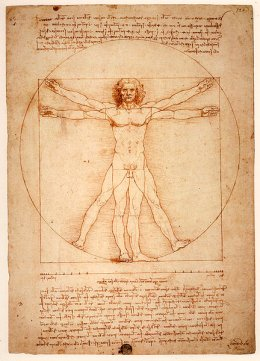 "Da Vinci's ""Vitruvian Man."" Who were the sons of God of Noah's Flood story?"