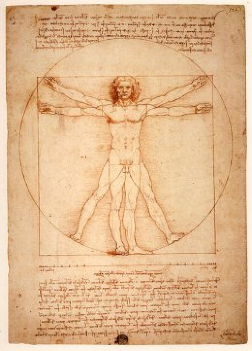 "Da Vinci's ""Vitruvian Man."" Who were the sons of God of Noah's Flood story?"