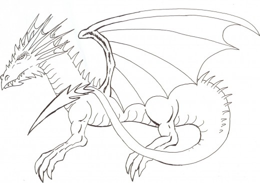 Drawing a dragon inspirations.  Dragon art by Wayne Tully. 2010