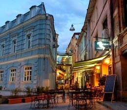 Rkinis Rigi (iron row), a picturesque part of Old Tbilisi.