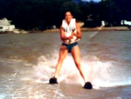 Here I am on Water Skis!