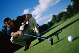 A game of golf can temporarily take your mind off your troubles.