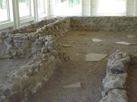 The Fox home stone foundation in Hydesville, New York. Photo by Spiritualist Church of Orlando.