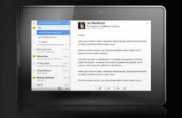 The new Blackberry Playbook - social networking is a cinch...