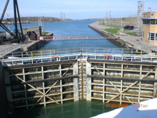 Passing the Lock-Massena, New York, USA (Photo courtesy of Electrician Arezza)