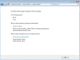 Block Access To Games with Windows Vista Parental Controls