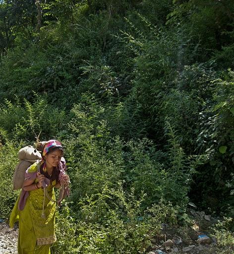 A village girl of Harsil Uttaranchal