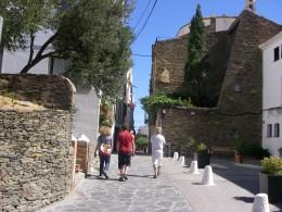 Walking in a side street