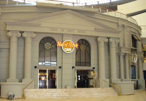 Hard Rock Cafe in Cancun, where we ate lunch one day.