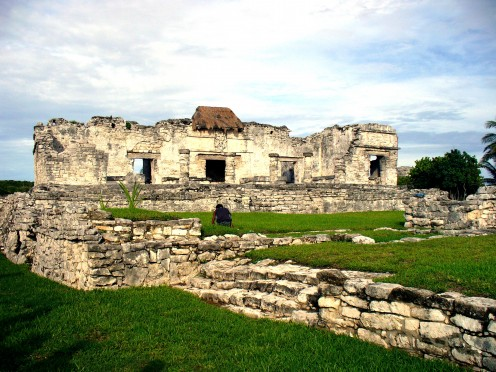 Mayan Ruins in Tulum, Mexico that we visited.  It is right on the coast.
