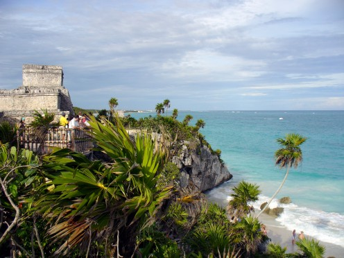 The edge of Tulum, and then the Caribbean
