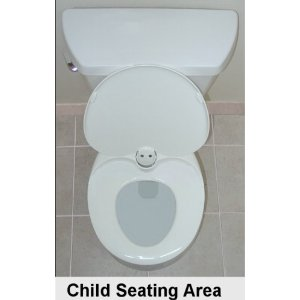 Xpress Trainer Pro Family Toilet Seat - Lid Up, Revealing the Potty Training Seat