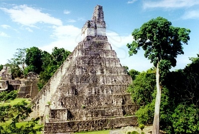 This structure is typical of a Maya pyramid. These were constructed to be in tune with the celestial sphere. The Maya were obsessive sky watchers.