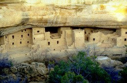 This city contained under a natural cliff overhang, is the home of the once mighty agricultural society of the Anasazi. They could farm where none other could.