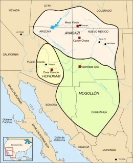 This is the region of the Anasazi nation in what is now Arizona, New Mexico, Colorado and southern Utah. Much of this area is arid or out right desert, yet they practiced agriculture by irrigation.