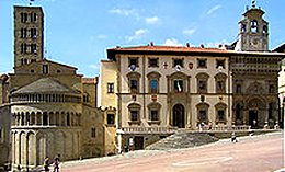 The city of Arezzo in Tuscany, Italy.