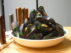 Easy flaming mussels in a sambucca cream sauce...all done on the BBQ!
