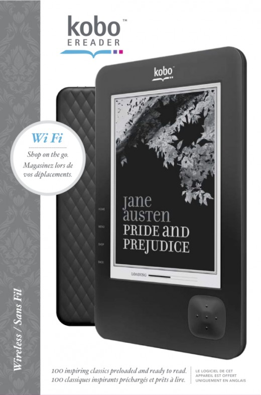 New Kobo WiFi in black.