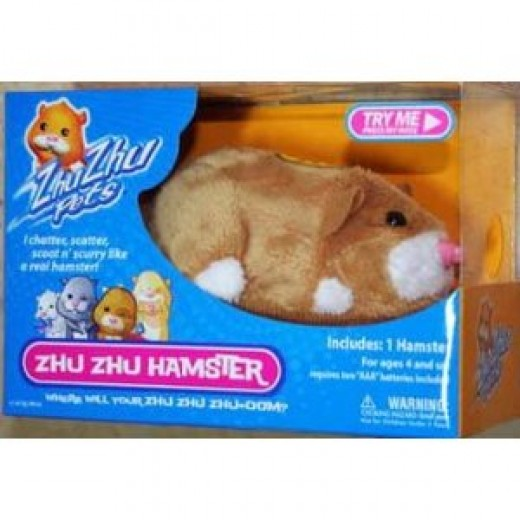 Zhu Zhu pets Mr. Squiggles