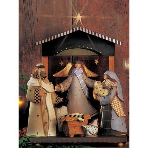 Americana Folk Style Nativity