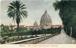 The dome of St Peter's seen from the Vatican Gardens
