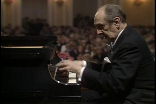 Vladimir Horowitz in performance.