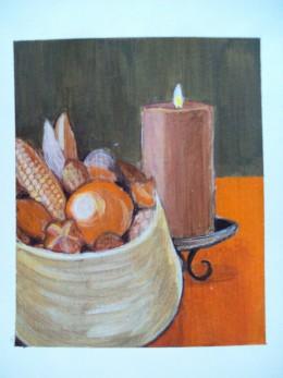 Autumnal Still Life -- Acrylic