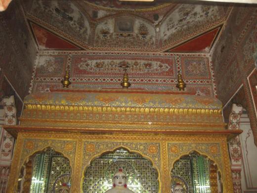 Mulgambhara, the inner sanctum where the idols are placed.