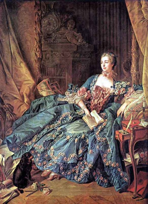 (Painting of Madame de Pompadour by Francois Boucher)