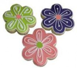 Royal icing is easily colored with gel or paste colors.  May also be flavored with extracts.