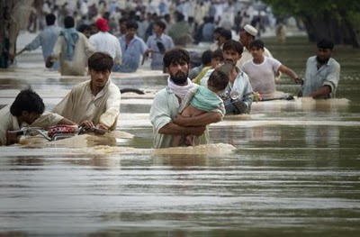 flood 2010 in sindh Pakistan damage all the Sindh