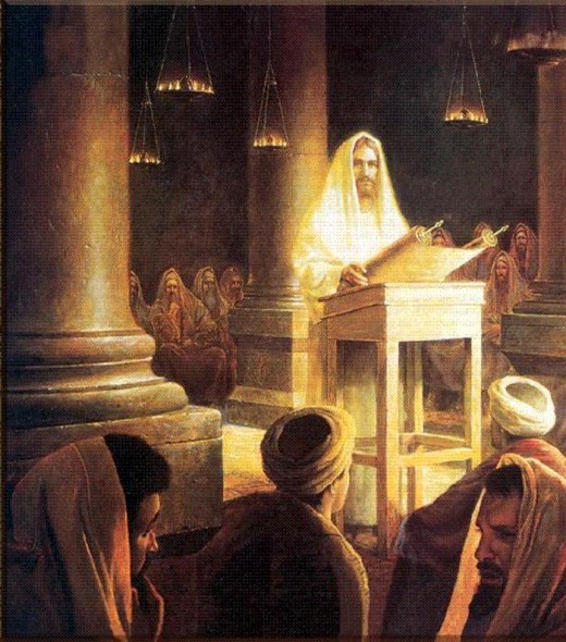 Painting Of Yeshua preaching